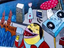 Det östside- gallerit av Berlin Wall i Berlin Germany Arkivbilder