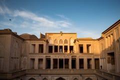 Det Abbasian huset i Kashan, Iran Fotografering för Bildbyråer