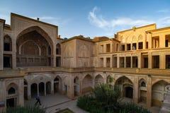 Det Abbasian huset i Kashan, Iran Royaltyfri Bild