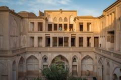 Det Abbasian huset i Kashan, Iran Arkivbilder