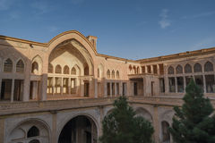 Det Abbasian huset i Kashan, Iran Arkivfoton