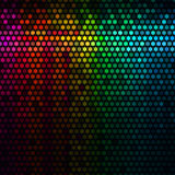 det abstrakt bakgrundsdiskot tänder för PIXELfyrkanten för mosaiken den multicolor vektorn Vektor för stjärnaPIXELmosaik vektor illustrationer