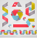 Det abstrakt bandet färgar formar stock illustrationer