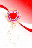 det abstrakt kortet blommar valentinen för stjärnor för hjärtaformst Arkivbilder