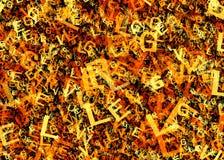 Det abstrakta alfabetet märker bakgrunder Royaltyfria Foton