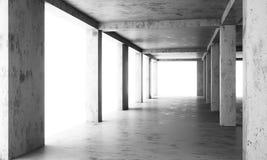 Det abstrakta golvet av en modern byggnad under konstruktion royaltyfri fotografi