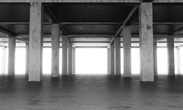 Det abstrakta golvet av en modern byggnad under konstruktion fotografering för bildbyråer