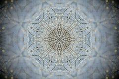 Det abstrakta ingreppsrastret förtjänar mandalaen Royaltyfri Bild