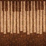 Det abstrakta musikaliska pianot stämmer - sömlös bakgrund - träsurfa Royaltyfri Fotografi