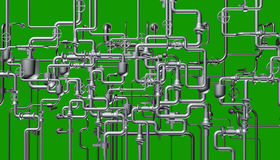 Det abstrakta systemet av rörledningen Arkivfoton