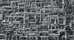 Det abstrakta systemet av rörledningen Arkivbilder