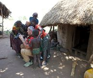 Afrikanskt folk och turist Arkivbilder