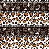 Det afrikanska trycket med cheetahen flår mönstrar Arkivfoto
