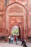 Det Agra fortet är Mughal för det 11th århundradet det arkitektoniska mästerverket Arkivfoto