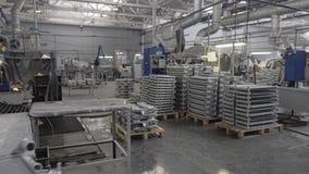 Det allmänna planet av shoppar av industriföretaget Produktionsprocess arkivfilmer