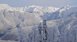 Det alpina landskapet till Esto-Sadok (Sochi, Ryssland) Arkivbilder