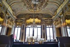 Det Aman Canal Grande hotellet som lokaliseras i Palazzoen Papadopoli i Venedig royaltyfri fotografi