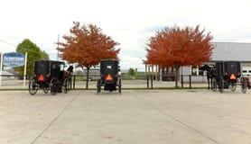 Det Amish landet är en blandning av forntiden och gåvan i Ohio royaltyfria foton