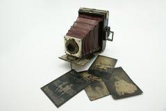 det antika kamerafotografiet plates tappning Arkivfoton
