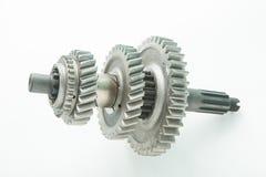 Det använda kugghjulet för byter ut i bilmotor Arkivbild