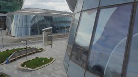 Det arkitektoniska komplexet av det nya området av staden av Astana lager videofilmer