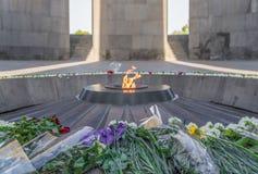 Det armeniska folkmordmuseet, Yerevan royaltyfri fotografi