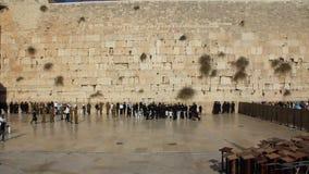 Det att jämra sig stället av judarna. Att jämra sig vägg. Västra vägg i Jerusalem, Israel