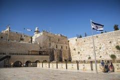 Det att jämra sig väggkomplexet för västra vägg i jerusalem Israel Royaltyfri Bild