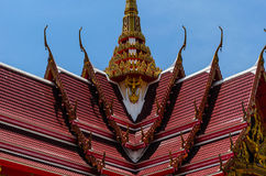 Fokusera av det thailändska tempelet Royaltyfri Fotografi