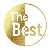 Det bästa emblemet i guld- Arkivfoto