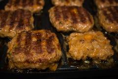 Det bästa jordnötköttet för stora hamburgare Royaltyfri Fotografi