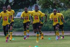 Det Bafana Bafana laget övar Arkivfoton