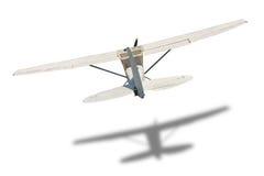 Det bakre gamla flygplanet arkivfoto