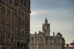 Det Balmoral hotellet, Edinburg arkivbild