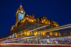 Det Balmoral hotellet i Edinburg Fotografering för Bildbyråer