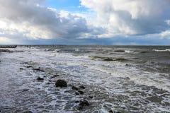 Det baltiska havet i höst Fotografering för Bildbyråer