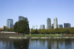 Det Bellevue centra parkerar Arkivbild