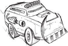 Det bepansrade lastbilmedlet skissar Arkivbilder