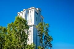 Det berömda Almelo vattentornet 1926 är en holländsk monument Royaltyfri Bild