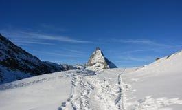Det berömda berget i Schweiz Arkivbild