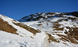 Det berömda berget i Schweiz Royaltyfri Fotografi