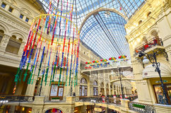 Det berömda GUMMIT, Moscow Arkivbild