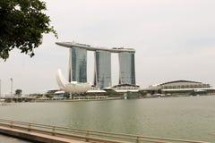 Det berömda hotellet Marina Bay Sands Royaltyfria Foton