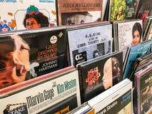 Det berömda Jazz Music For Sale In musikmassmedia shoppar Royaltyfria Bilder