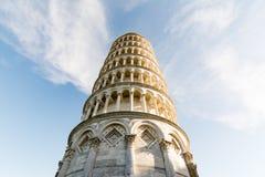 Det berömda lutande tornet av Pisa Arkivfoto