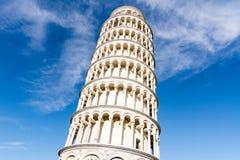 Det berömda lutande tornet för värld av Pisa Arkivbilder