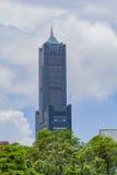 Det berömda tornet för 85 himmel av den Kaohsiung staden Royaltyfria Foton