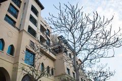 Det berömda trädet för dubai springbrunnsjö Royaltyfria Bilder