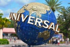 Det berömda universella jordklotet på Citiwalk Universal Studios arkivbild