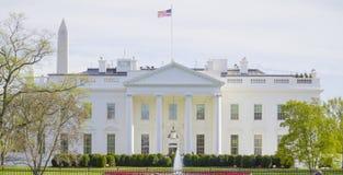 Det berömda Vita Huset i Washington DC - WASHINGTON DC - COLUMBIA - APRIL 7, 2017 Royaltyfri Foto